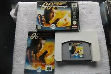 007 THE WORLD IS NOT ENOUGH NINTENDO 64 N64 PAL FAST POST ( boxed shooter game )