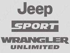 8 PIECE JEEP vinyl STICKERS Wrangler Sport PICK YOUR COLOR Refresh JKU Unlimited
