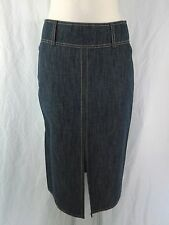 SCHUMACHER Jupe stiftrock Taille XS Bleu Jeans-Look Coton wadenlang chic COMME NEUF