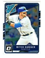 2017 Panini Donruss Optic RATED ROOKIE #64 MITCH HANIGER RC Seattle Mariners
