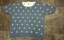 NEXT BLUE/WHITE SPOTTED JUMPER SIZE MEDIUM