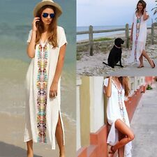 Women Summer Boho Robe Long Maxi  Evening Party Dress Beach Sundress Swimwear