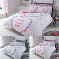 Luxury Duvet Cover Set With Pillow Cases King Size Double Single Super Bedding