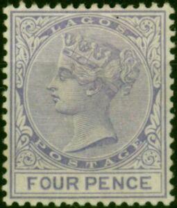 Lagos 1884 4d Pale Violet SG24 Fine Mtd Mint