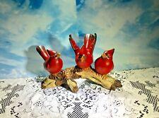 3 Resin Cardinal Birds Figurine