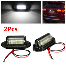Universal 2Pcs 6 SMD White LED License Plate Tag Light For Car Truck SUV Trailer