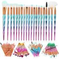 20pcs Pro Glitter Makeup Brushes Set Powder Blush Eye Shadow Blending Brush Kit