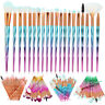 20pcs Pro Glitter Makeup Brushes Set Powder Blush Eye Shadow Blending Brush Kit