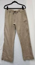 Womens George Linen Trousers Size UK 10 EUR 38 Womens Trousers Stone Trousers