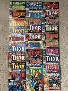 Marvel Lot 27 Vintage 80's THOR Comics VF/NM 1 Dollar each 412 1st New Warriors