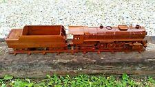 Wooden 4-6-4 Hudson Steam Engine. Large Mantle Style Model.