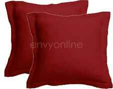 2 x 1000TC EGYPTIAN COTTON European Pillowcases Cushion cover 65x65cm- Red