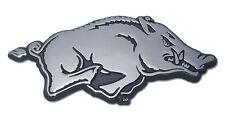 Arkansas Razorbacks Chrome Metal Auto Emblem (Running Hog) NCAA Licensed