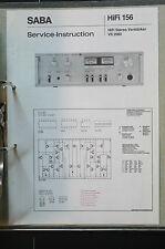 Saba vs 2080 ORIGINAL SERVICE MANUAL/Manual/Wiring Diagram top-condition! O34