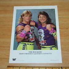 Shawn Michaels Rockers official original wrestling promo photo 8.5x11 1989