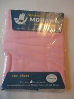 Flat Sheet Vintage Stevens Mohawk 1960's Muslin Twin Size Pink 100% Cotton