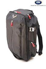 14-17 Chevrolet Corvette C7 Backpack 22970469 Black w/ Cross Flag Logo OEM GM