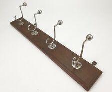 Antique Chrome Art Deco Coat Rack Hooks Coatrack