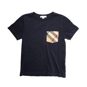 Burberry Boys Navy Blue Short Sleeve T-Shirt size 8 Years