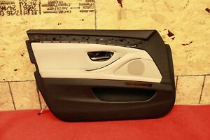 Left Front Driver Door Panel Trim Cover Black Oyster BMW OEM F10 550I 535i 528i