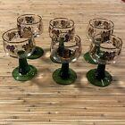 Set of 6 German Rhein Glass Roemer Vintage Goblet Wine Glass