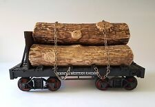 Vintage JIM BEAM Decanter Jersey & Western Railway Log Train Car ~ Ex. Condition