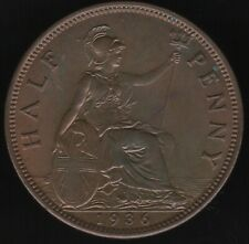 More details for 1936 george vi halfpenny coin | british coins | pennies2pounds