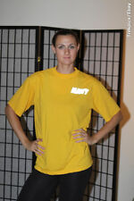"""United States Navy PT T-shirt - """"Captain Phillips"""" - Yellow - mens Small"""