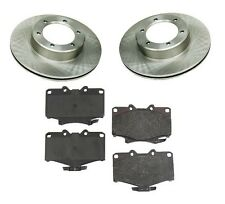 For Toyota Pickup 4WD 88-94 V6 3.0L Front Disc Brake Pads Rotors Kit Brand New