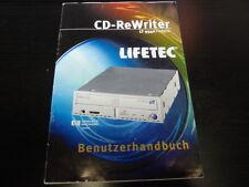 LIFETEC CD-ReWRITER LT9340/intern BEDIENUNGSANLEITUNG BENUTZERHANDBUCH   25374