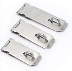 3/4/5 inch Stainless Steel Padlock Clasp Gate Hasp Staple Anti Theft Door Lock