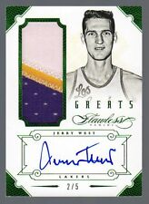 2012-13 Flawless Greats Jerry West Auto Patch Emerald #2/5 Lakers