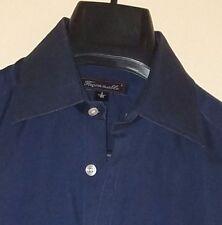 Faconnable Navy Blue End-On-End Cotton L/S Button-Front Shirt Sz. 2/15 R