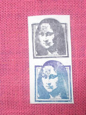 Mona Lisa rubber stamp frame collage art stamps unmounted dies mixed media craft