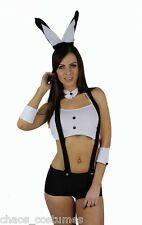 Sexy Playboy Bunny Rabbit Suit Halloween Fancy Dress Cocktail Costume 6 8 10