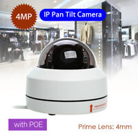 4MP IP Security Camera HD 1080P Waterproof Network 4mm PoE Night Vision 355°