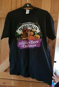 Funky Hobgoblin wychwood brewery black t shirt, Gildan size L