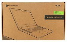 "Acer 15.6"" Intel Dual Core 2GB RAM 16GB HD Chrome OS Webcam Chromebook HP Gray"