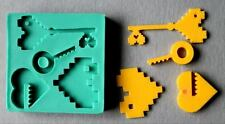 Silicone Mould LOVE IN PIXELS Decorating Fondant / fimo mold