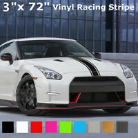 3''x72'' 183x8 cm Bande Autocollant Sticker Vinyle Decal Capot Voiture Camion