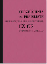 CZ 175 Standard Spezial Ersatzteilliste Ersatzteilkatalog Spare Parts Catalogue