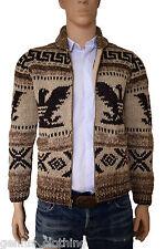 Ralph Lauren Intarsia Cowichan Sweater Jumper Cardigan RRP £605 BNWT Medium