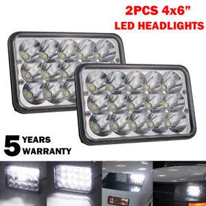 "2Pcs 4x6"" H4 LED Headlight Sealed Beam H4652 H4651 H4656 H4666 H6545 Work Light"