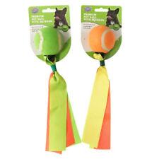 2 x Dog Balls Tug Tail Pet Puppy Chew Toy Fetch Durable Squeaker Dental Hygiene