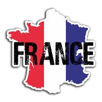 2 x 10cm France Flag Map Vinyl Stickers - Travel Sticker Laptop Luggage #23315