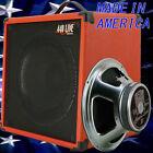 1x12 Guitar Speaker Extension Cabinet W 8 Ohm CELESTION C Lead 80 fire red tolex