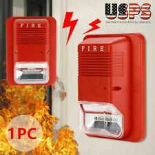 Us Sound Amp Light Alert Safety System Sensor Fire Alarm Warning Strobe Siren Horn