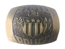 Vtg State Police Belt Buckle Law Enforcement Law Badge Pin 1981 Job Hero Men's