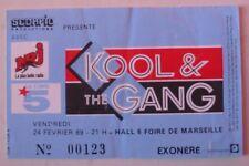 KOOL & THE GANG USED TICKET CONCERT EXONERE MARSEILLE FEVRIER 1989