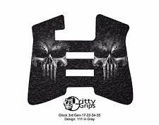 Textured Rubber Grip Enhancements for Glock 3rd Gen 17, 22, 34, 35 Design 111GR